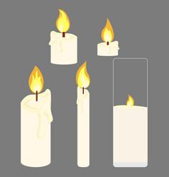 Bulk granulated candles vector