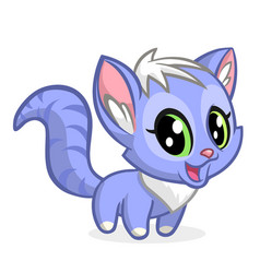cartoon of cute cat vector image
