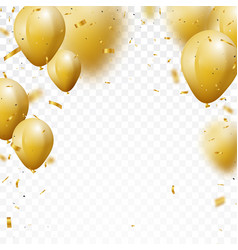 celebration background with gold confetti and ball vector image