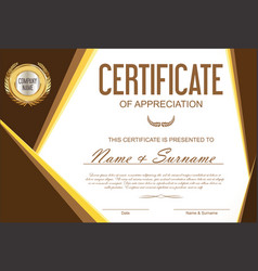 Certificate or diploma template 13 vector