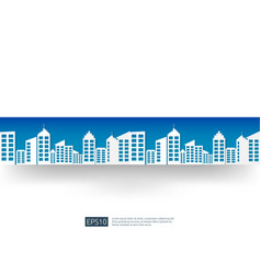 city skyline with blue sky landscape business vector image