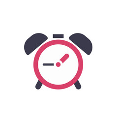 clock alarm icon - time sign - flat vector image