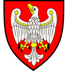 Coat of arms of greater poland voivodeship in vector