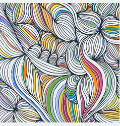 Coloring pattern curved lines black and white vector