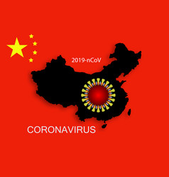 Coronavirus icon 2019-ncov novel background vector