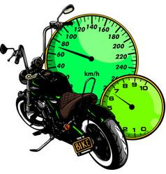 Custom bike motorcycle graphic poster vector