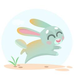 cute cartoon bunny character vector image