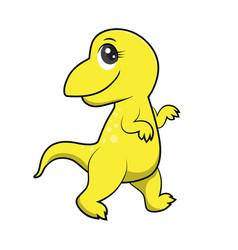 cute dinosaurs cartoon eps10 file vector image