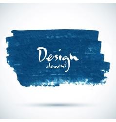 Dark blue paint grunge stain vector image