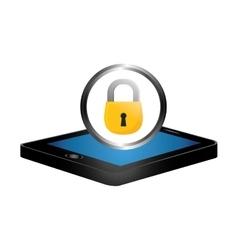 digital or internet securityicon image vector image
