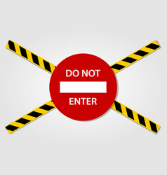 do not enter sign and caution tapes vector image