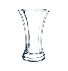 Empty glass draw vector