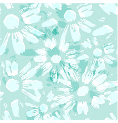 Endless texture with camomile vector