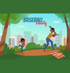 fatherhood baseball vector image