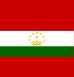 flag in colors of tajikistan image vector image