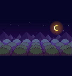 Forest night game background vector