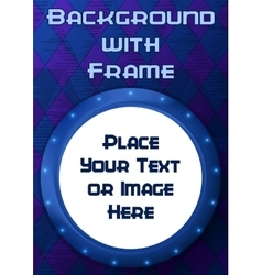 Frame Porthole on Blue Background vector