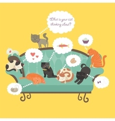 Funny cats with Speech Bubble vector image vector image