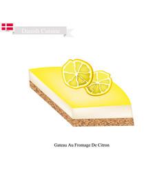 Gateau au fromage de citron vector