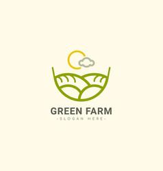Green farm logo template design vector