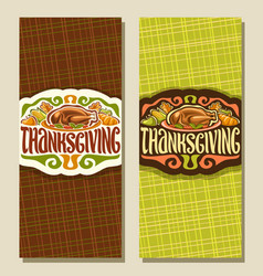greeting cards for thanksgiving day vector image