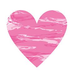 Heart shape color design vector