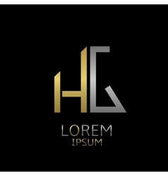 HG letters logo vector image