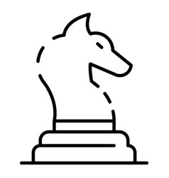 horse chess piece icon outline style vector image