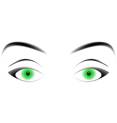 Hypnotizing green eyes vector