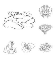 Isolated object of balinese and caribbean logo vector