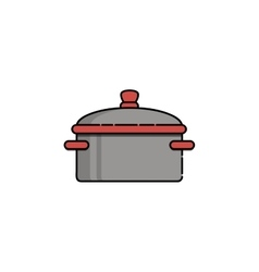 Kitchen flat icon saucepan vector