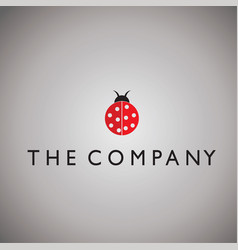 Ladybug ideas design on background vector