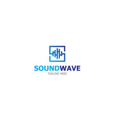 logo template sound wave vector image