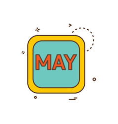 may calender icon design vector image