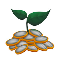 money sowing symbol vector image