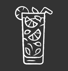 Moxito chalk icon mojito cocktail in highball vector