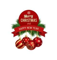 New Year greeting card logo vector image