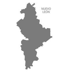 Nuevo leon mexico map grey vector