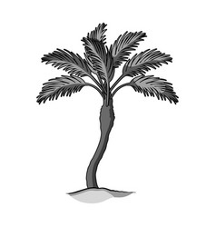 Palm beach treesummer rest single icon in vector