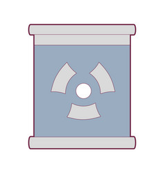 poster with radiation symbol of danger vector image