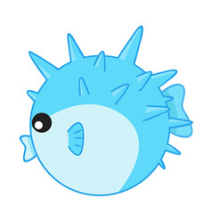puffer fish isolated vector image