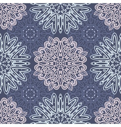 Purple seamless pattern with tracery ornaments vector image