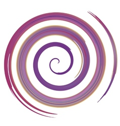 purple watercolor spiral vector image