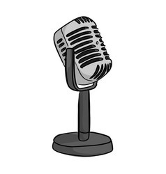 retro style classic microphone vector image