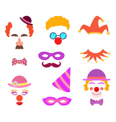 Scrapbook elements circus or party costumes vector