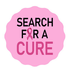 search for a cure logo realistic style vector image