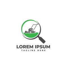 search lawn mower service logo icon vector image