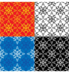 Set of 4 different colors seamless textures vector image