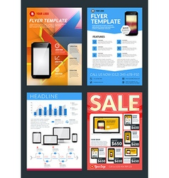 Set of abstract business flyer brochure design vector