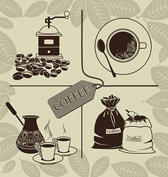 Set on a theme coffee vector